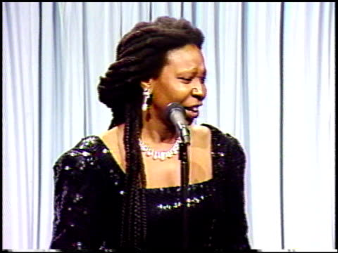 whoopi goldberg at the 1991 academy awards at the shrine auditorium in los angeles california on march 25 1991 - academy awards stock videos & royalty-free footage