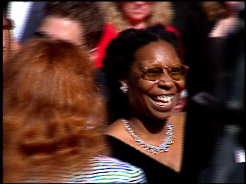 whoopi goldberg at the 1996 emmy awards arrivals at the pasadena civic auditorium in pasadena california on september 8 1996 - whoopi goldberg stock videos & royalty-free footage