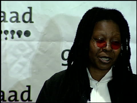 whoopi goldberg at the glaad awards 99 at century plaza in century city california on april 17 1999 - 1999 stock videos & royalty-free footage