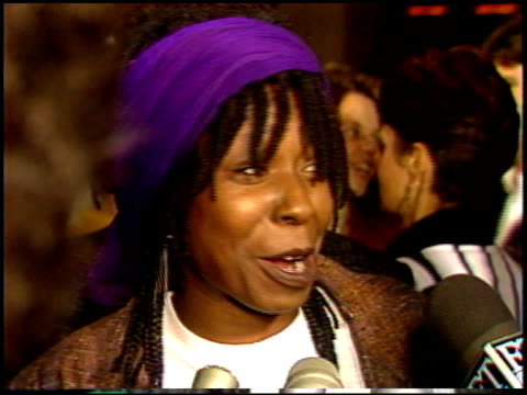 whoopi goldberg at the 'jumping jack flash' premiere at century plaza in century city california on october 9 1986 - whoopi goldberg stock videos & royalty-free footage
