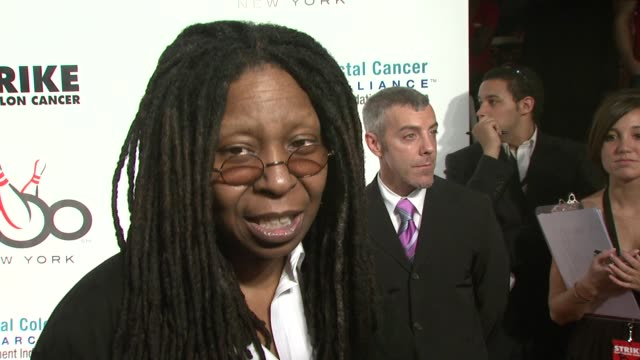 whoopi goldberg on the importance of getting tested early especially for men on having lost male friends to the disease and talking about the subject... - whoopi goldberg stock videos & royalty-free footage