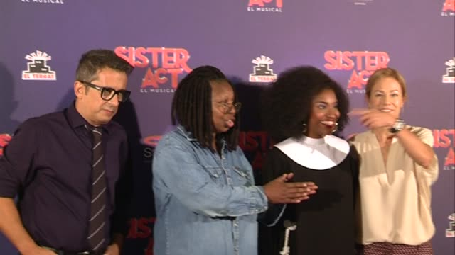 whoopi goldberg presents 'sister act' in barcelona - whoopi goldberg stock videos & royalty-free footage