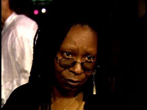 whoopi goldberg speaks to a reporter on the red carpet - whoopi goldberg stock videos & royalty-free footage