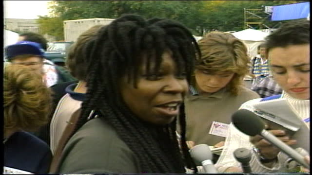 whoopi goldberg talking about her work with kids with aids - 1987 stock videos & royalty-free footage