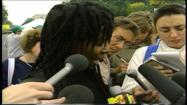 whoopi goldberg talking about the issue of abortion choice and wants aids cured - 1987 stock videos & royalty-free footage