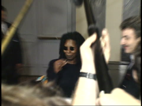 whoopi goldberg talking to reporters on red carpet - friars roast 1993 stock videos and b-roll footage