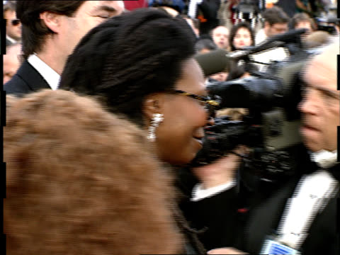 whoopi goldberg talks to reporters on the red carpet at the 64th annual academy awards - whoopi goldberg stock videos & royalty-free footage