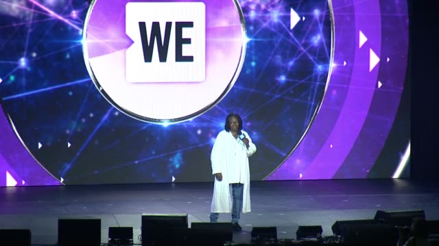 speech whoopi goldberg thanks audience for the work they've done and their empathy kids can take care of business at we day un at madison square... - whoopi goldberg stock videos & royalty-free footage