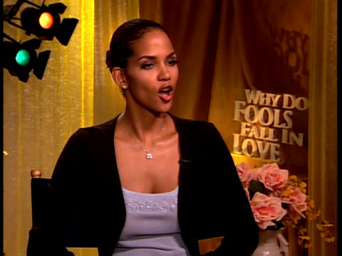 why do fools fall in love halle berry interview - halle berry stock videos and b-roll footage