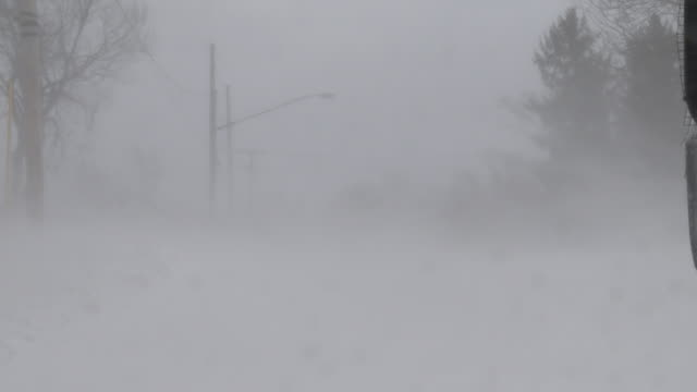 wicked winds create ground blizzard conditions - scott mcpartland stock videos & royalty-free footage