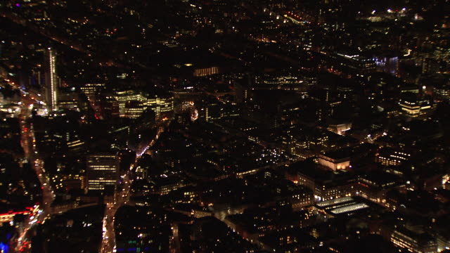 Wide Aerial and zoom in on Covent Garden area of London