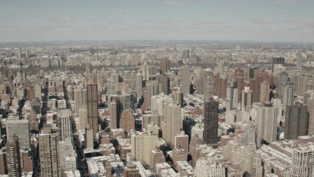 Wide Aerial Daytime View Of Midtown Manhattan And Central Park