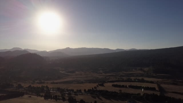 wide aerial, remote mexico landscape - zoom in stock videos & royalty-free footage