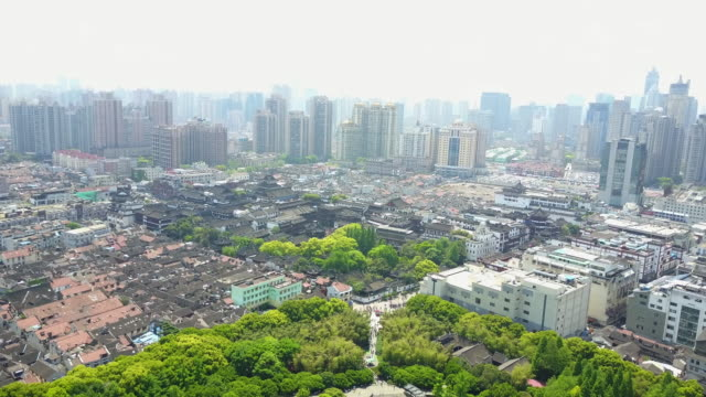 wide aerial, shanghai, china skyline - wide stock videos & royalty-free footage