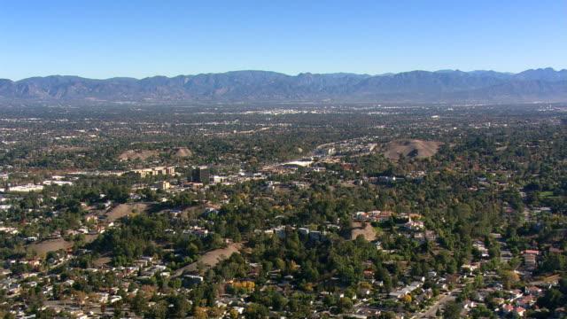 Wide aerial view across San Fernando Valley. Shot in 2008.