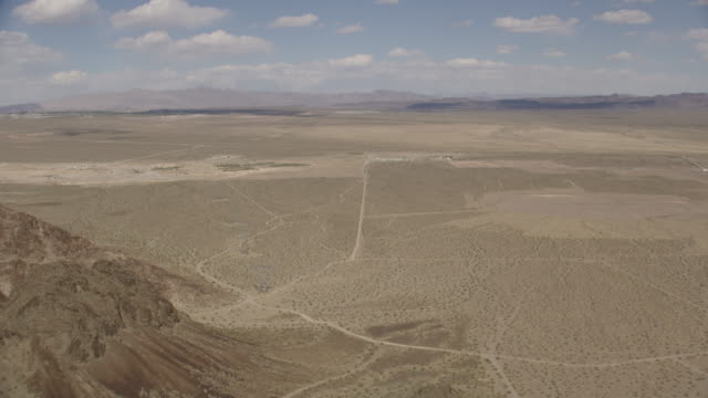 Wide Aerial View Of Nevada Desert