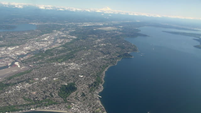 Wide Aerial View of Seattle USA Area