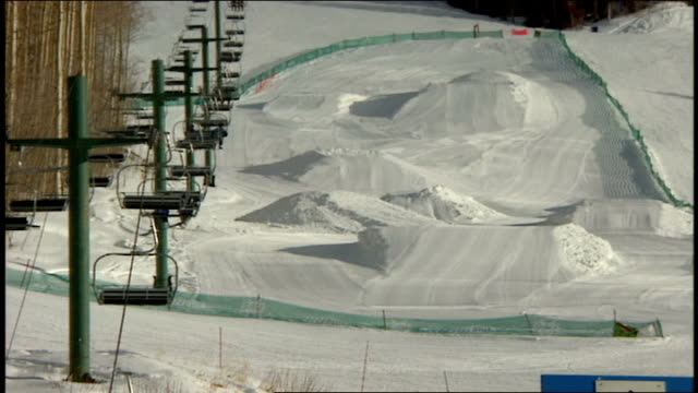 wide and close up of ski lift in telluride colorado - skiwear stock videos & royalty-free footage