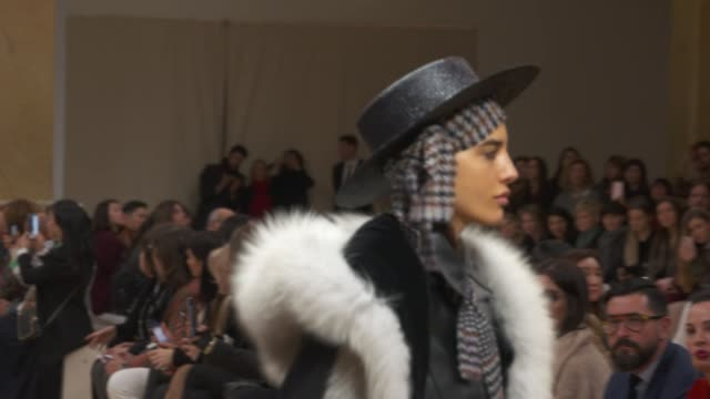 wide and detail runway shots and designer. - milan fashion week stock videos & royalty-free footage