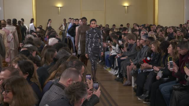 wide and detail runway shots and designer - paris fashion week stock videos & royalty-free footage