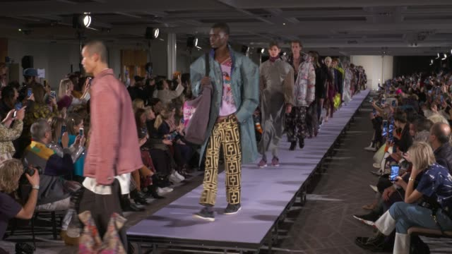 wide and detail runway shots and designer. - catwalk stage stock videos & royalty-free footage