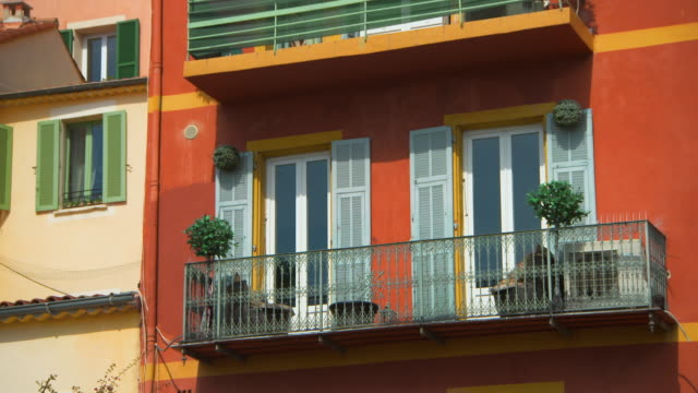 wide angle: balcony of apartment - patio stock videos & royalty-free footage