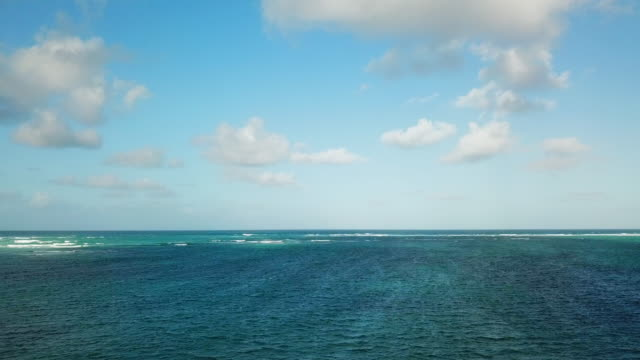 wide angle: beautiful blue ocean of punta cana - wide stock videos and b-roll footage