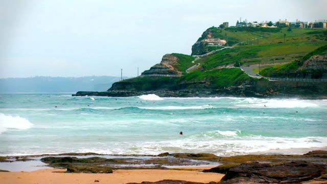 Weitwinkel von Newcastle Küste Australiens