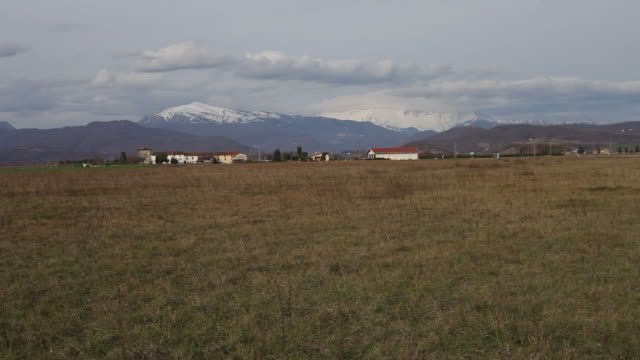 wide angle of matajur mountain, julian pre-alps - julian alps stock videos and b-roll footage