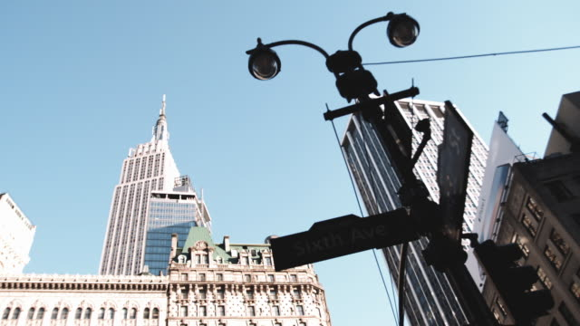 Wide angle shot of New York City's Empire State Building