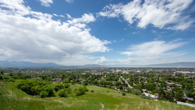 wide angle time lapse over provo, utah - provo stock videos & royalty-free footage
