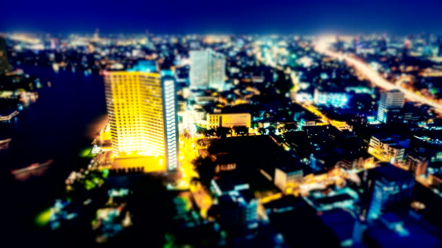 Wide Angle View Of City Nigh