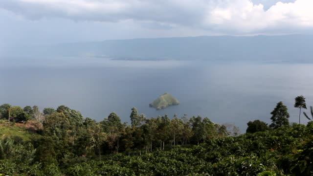 Wide beauty landscape in Sumatra aerial