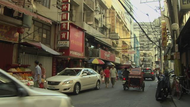 wide block shot chinatown manila metro manila philippines - フィリピン点の映像素材/bロール
