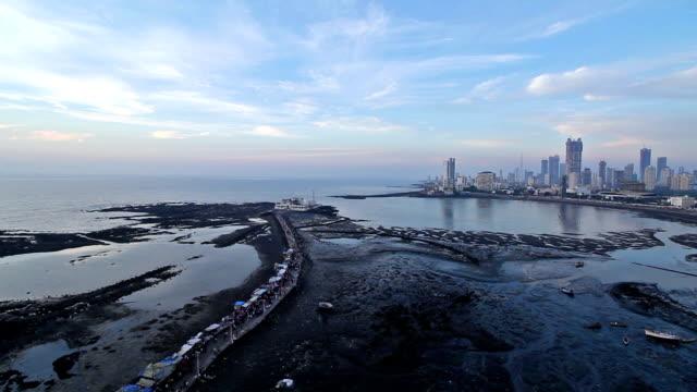 Wide Block shot of Haji Ali Dargah, Mumbai