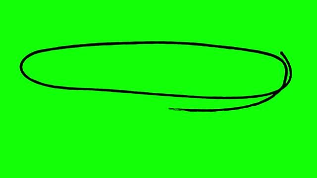 vídeos de stock e filmes b-roll de wide circle marker animated, green screen stock video - caneta de feltro