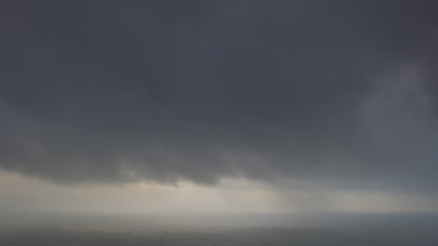 wide, dense clouds over open ocean - wide stock videos and b-roll footage