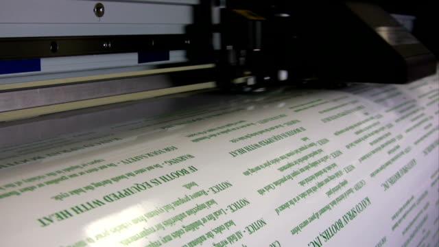 HD: Wide Format Printer Printing Labels