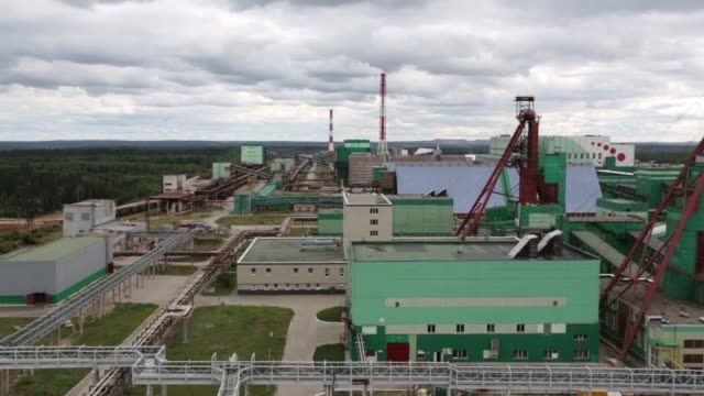 wide high angle view potassium chloride storage facilities at a potash mine, operated by oao uralkali in berezniki, russia, on monday, aug. 26 high... - potassium stock videos & royalty-free footage