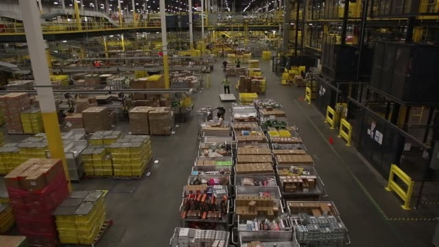 Wide interiors at an Amazon Fulfillment Center in Robbinsville New Jersey Monday November 27 2017 Photographer Victor J Blue – Shots wide interior...