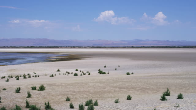 Wide, lake shore in desert landscape