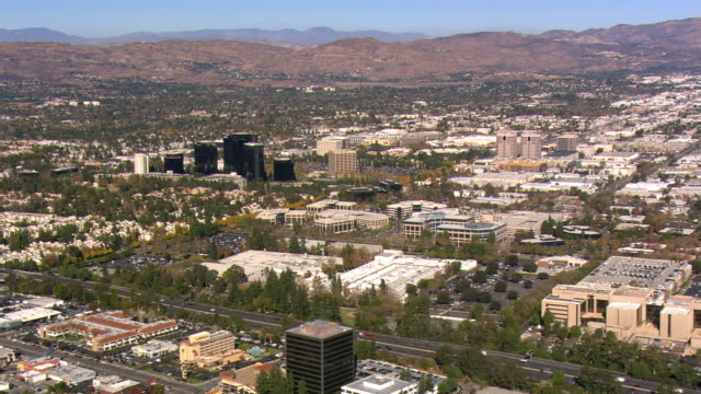 Wide mid-level view of San Fernando Valley. Shot in 2008.