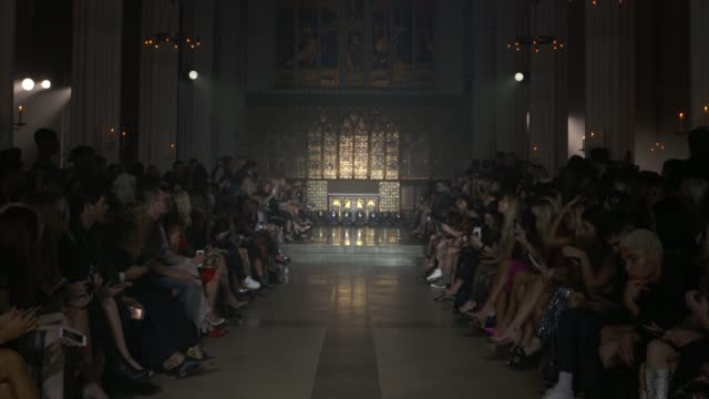 wide runway shots highlights of looks with finale and designer - winnie harlow stock videos & royalty-free footage