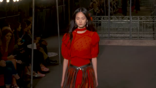 wide runway shots highlights of looks with finale and designer - paris fashion week stock videos & royalty-free footage
