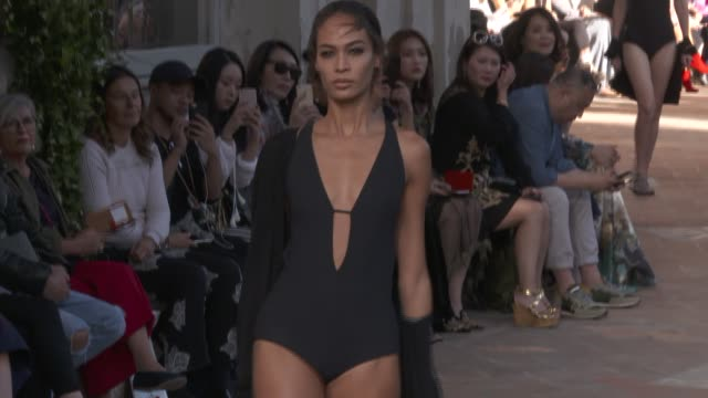 wide runway shots highlights of looks with finale and designer - joan smalls stock videos & royalty-free footage