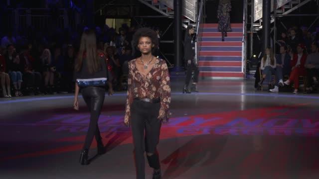 wide runway shots highlights of looks with finale and designer - tommy hilfiger designer label stock videos and b-roll footage