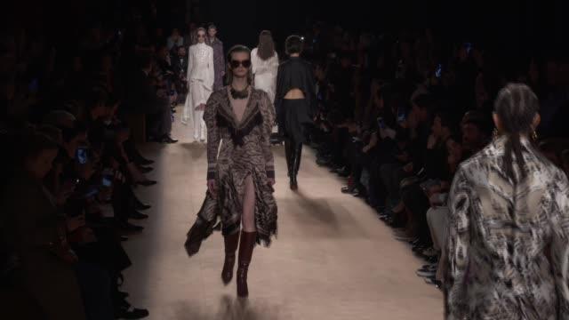 wide runway shots - roberto cavalli designer label stock videos & royalty-free footage