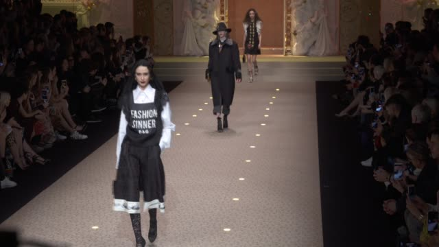 wide runway shots - marni stock videos & royalty-free footage