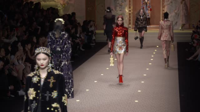 wide runway shots - dolce & gabbana stock videos & royalty-free footage