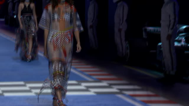 wide runway shots - tommy hilfiger designer label stock videos and b-roll footage